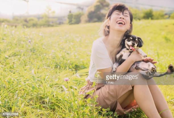 a very loved dog. - 大人のみ ストックフォトと画像