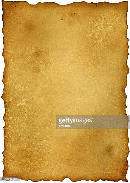 a very old and worn out piece of paper  - old parchment background burnt stock photos and pictures