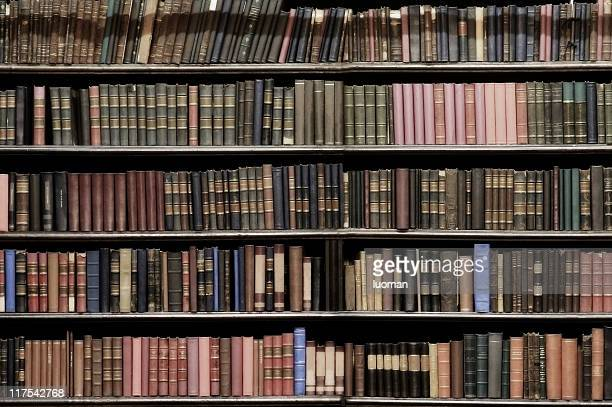 very old books - book shelf stock photos and pictures