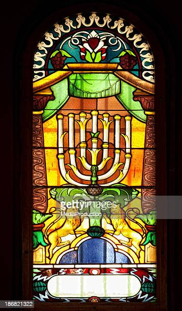 Very old Synagogue stained glass window
