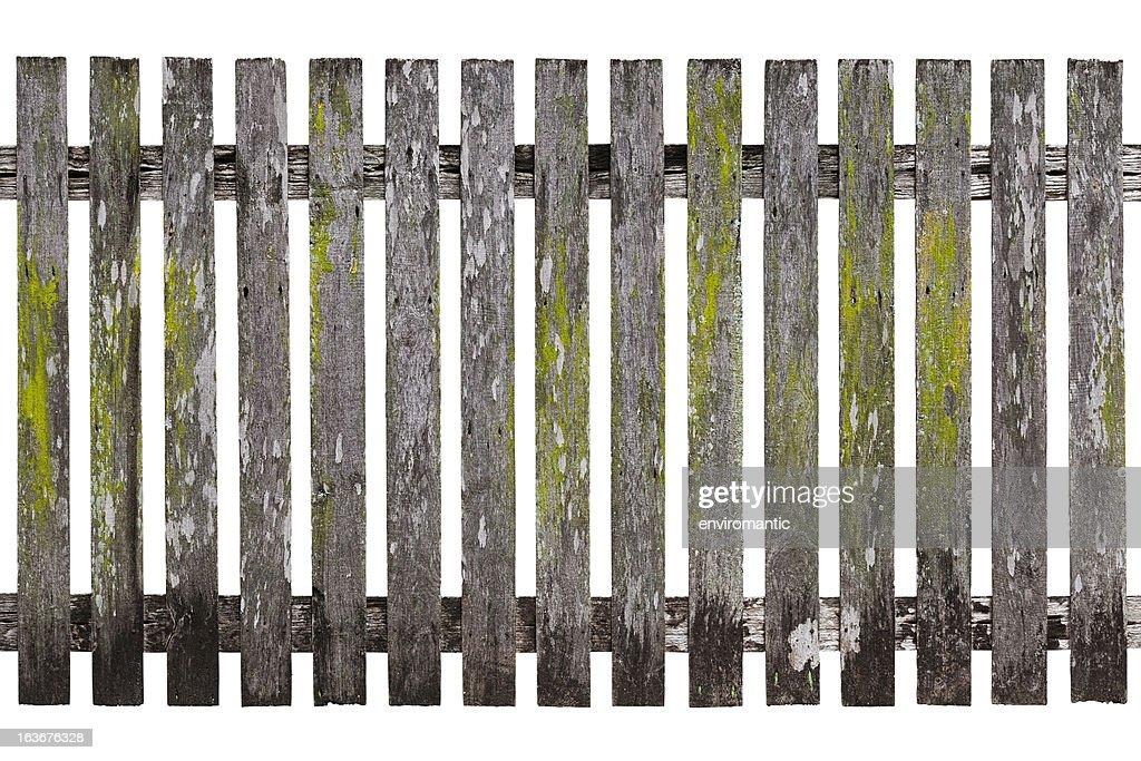 非常に古い木製の杭垣ます。 : ストックフォト