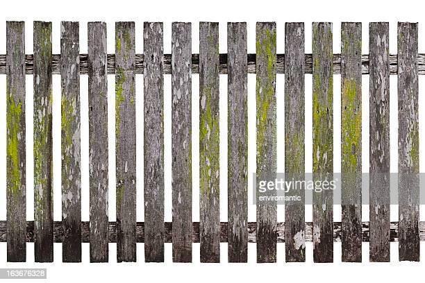 Very old wood picket fence.