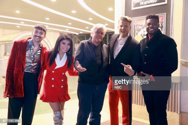 SPECIAL 'A Very Pentatonix Christmas Special' Pictured Mitch Grassi Kirstin Maldonado Jay Leno Scott Hoying Kevin Olusola