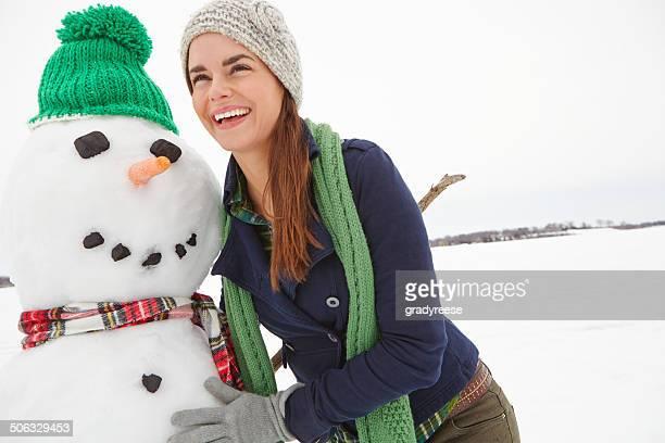 Sehr stolz auf Sie war, die der Schneemann
