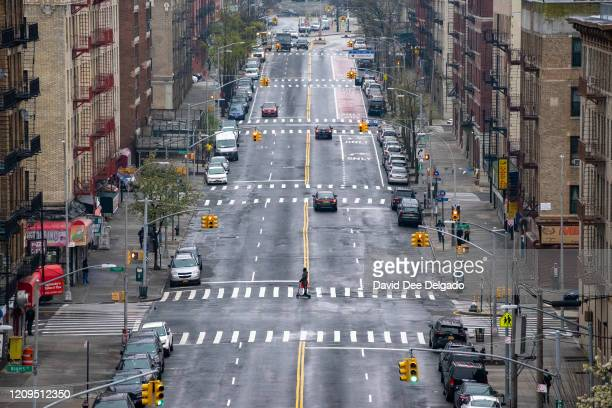 Very quiet 163rd street on April 8, 2020 in the Bronx borough of New York City. New York State reported the largest daily death count to date with...