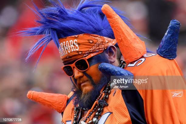 Very sad Bronco fan as the Denver Broncos lose to the San Francisco 49er's at Levi's Stadium December 9, 2018 in Santa Clara, CA.