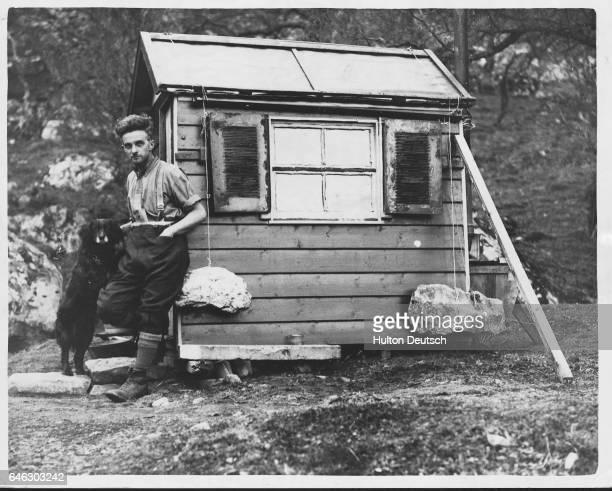 A very small house in Invernesshire Scotland 1935 | Location Craig Dhu Bridge Laggan near Kingussie Invernesshire Scotland UK