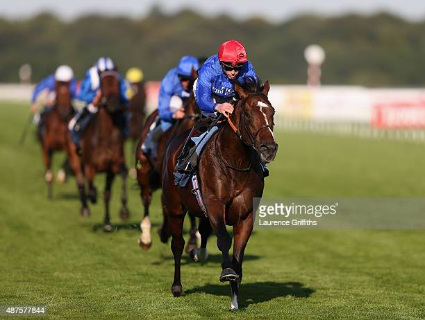 Very Talented ridden by James Doyal on their way to victory in the DFS British Stallion Studs EBF Maiden Stakes at Doncaster Racecourse on September...