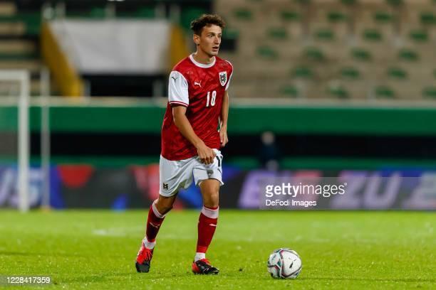 Vesel Demaku of Austria controls the ball during the UEFA Euro Under 21 Qualifier match between Austria U21 and England U21 at Keine Sorgen Arena on...