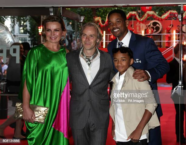Veslemoy Ruud Zwart Harald Zwart Will Smith and Jaden Smith arriving for the UK Gala Premiere of The Karate Kid at the Odeon West End Leicester...