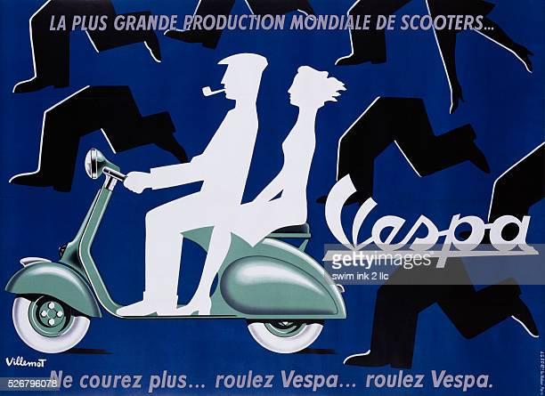 Vespa Poster by Bernard Villemot