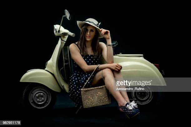 20,887 Vespa Woman Photos and Premium High Res Pictures - Getty Images
