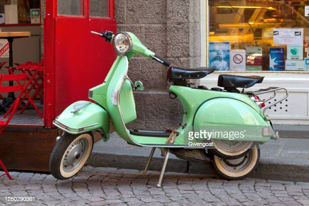 vespa px150 - vespa brand name stock pictures, royalty-free photos & images