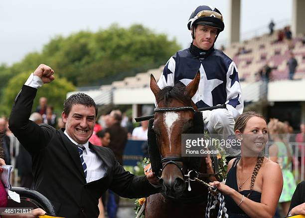 Vespa ridden by Mark Du Plessis wins the Karaka Million at Ellerslie Racecourse on January 26 2014 in Auckland New Zealand Karaka Million is New...