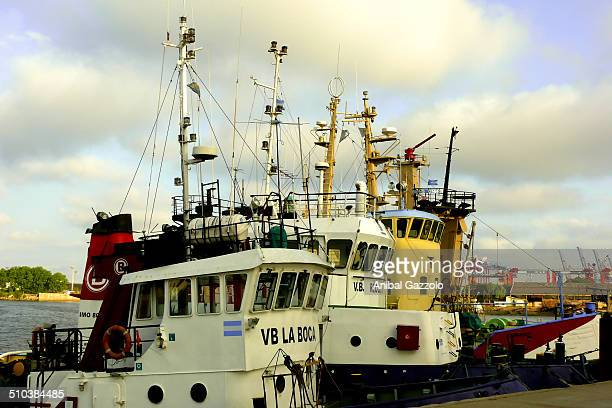 Vessels moored in the port of Buenos Aires