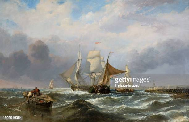 Vessels off the Dutch Coast, 1829-1860. Artist Clarkson Stanfield. .