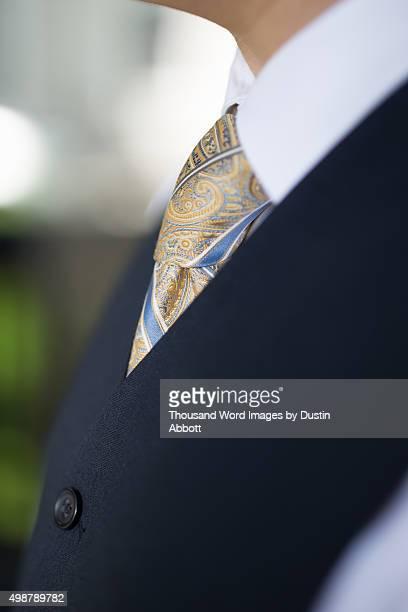vest and tie - dustin abbott imagens e fotografias de stock