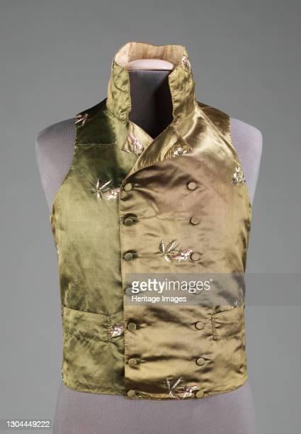 Vest, probably British, 1800-1810. Artist Unknown.
