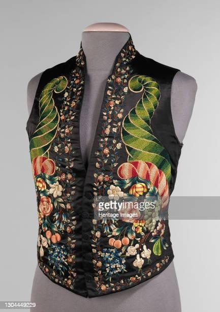 Vest, probably British, 1845-59. Artist Unknown.