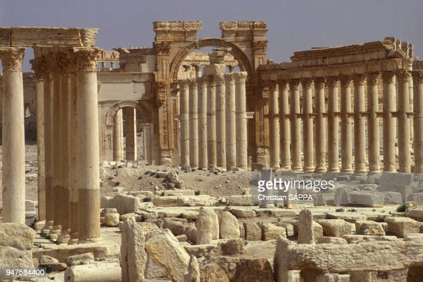 Vestiges de la cité antique de Palmyre, en Syrie.