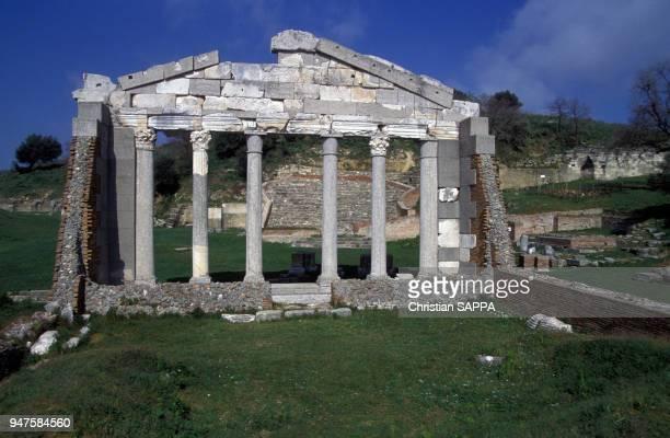 Vestiges du bouleutérion de la cité grecque d'Apollonie d'Illyrie Albanie