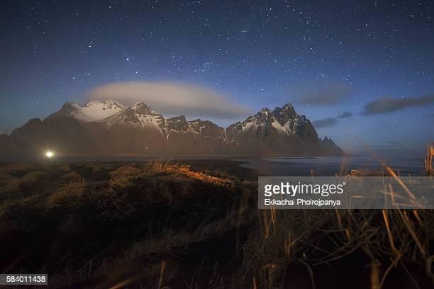 vestrahorn at night