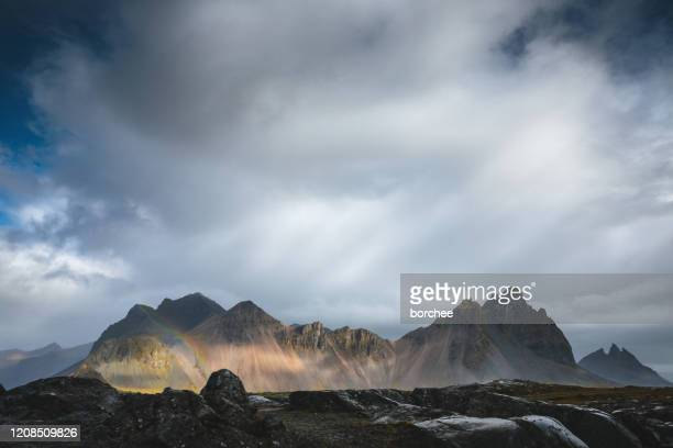 vestrahorn, iceland - dramatic landscape stock pictures, royalty-free photos & images
