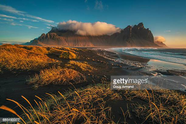 Vesturhorn Mountains at sunrise