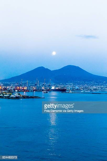 Vesuvius and moon