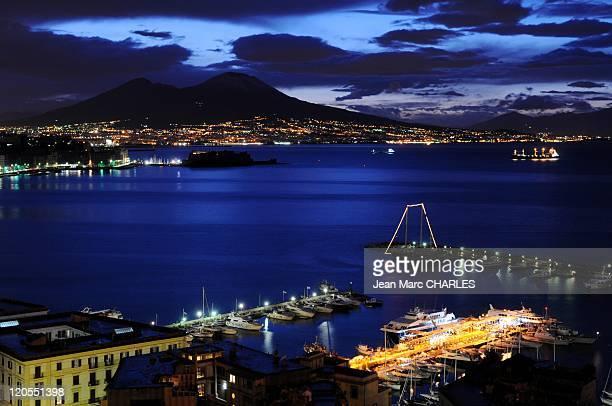 Vesuvius VolcanoBay Of Naples in Italy on January 01 2009