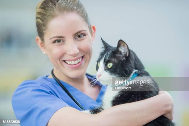 Vet With Cat