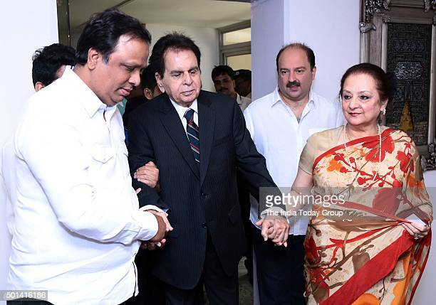 Veteran Actor Dilip Ar With His Wife Saira Banu At Their Residence In Mumbai