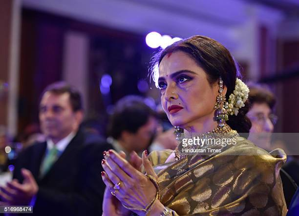 Veteran actor Rekha during Hindustan Times Most Stylish Awards 2016 at Taj Lands End, Bandra on March 20, 2016 in Mumbai, India.