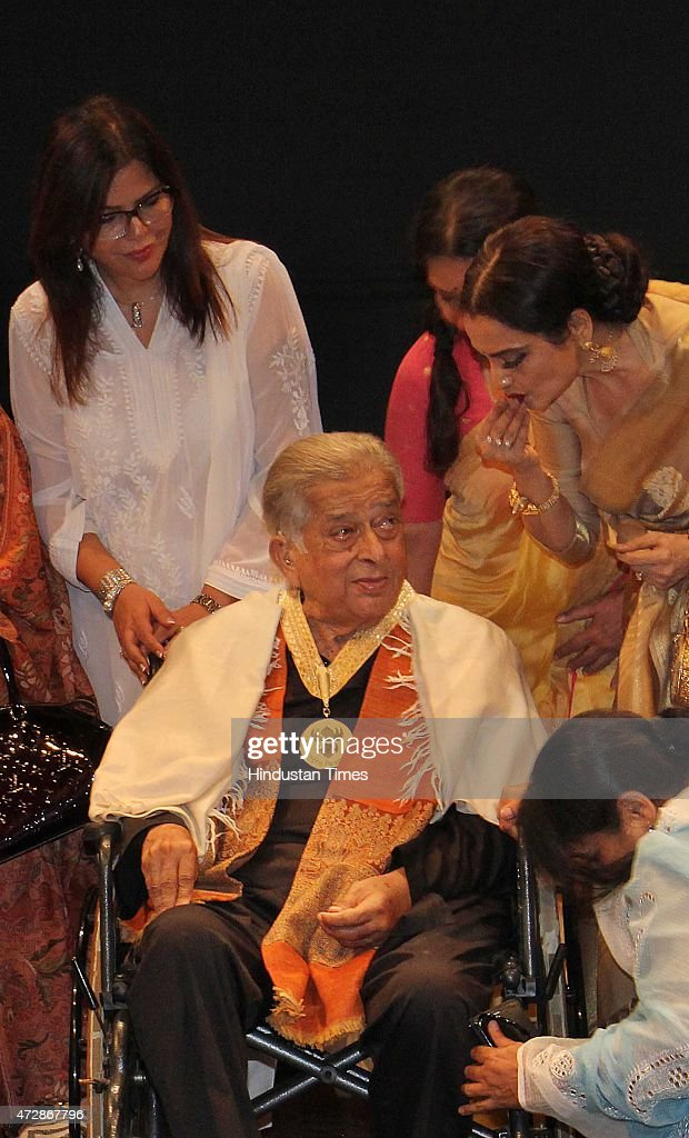 Veteran actor Shashi Kapoor and Bollywood actors Zeenat Aman and Rekha after receive the Dadasaheb Phalke Award the highest honour in Indian Cinema...