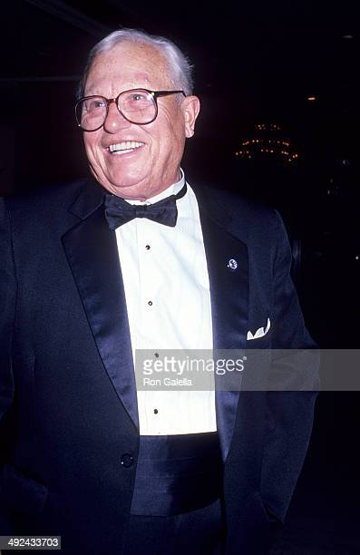 Veteran and actor Harold Russell attends the 10th Annual Media Access Awards on January 22 1989 at the Beverly Hilton Hotel in Beverly Hills...