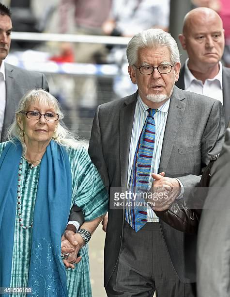 Veteran Australian artist and entertainer Rolf Harris and his wife Alwen Hughes leave Southwark Crown Court in central London on June 30 2014 Veteran...