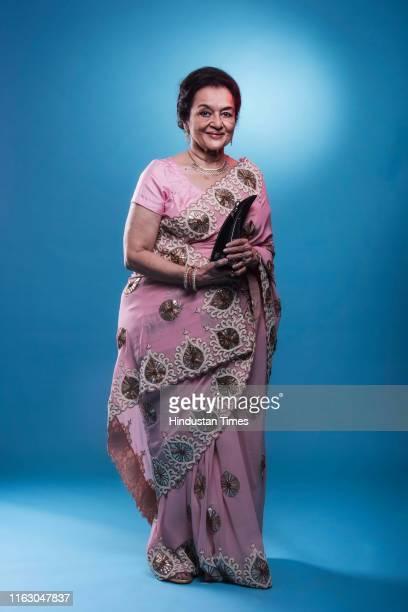 Veteran Bollywood actor Asha Parekh poses for a profile shoot at Hindustan Times Most Stylish Awards 2017 on March 24 2017 in Mumbai India