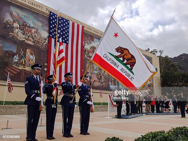 Los Angeles Ca November 11 2014 Veteran Day ceremony at the 55th annual Veterans Day ceremony at Forest Lawn in the Hollywood Hills