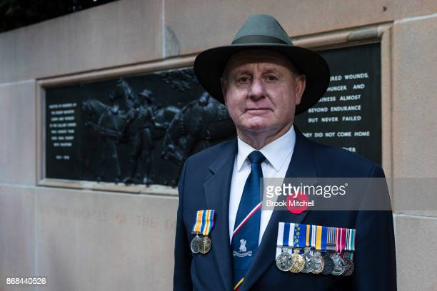 Veteran Dick Adams is pictured during commemorations for the centenary of the Australian Light Horse Charge at the Battle of Beersheba on October 31...