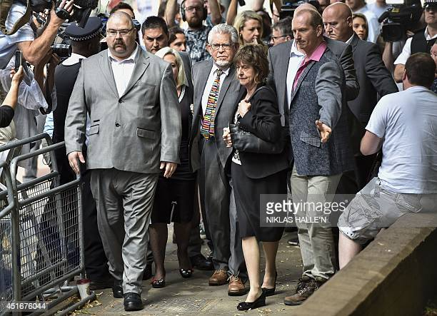 Veteran entertainer Rolf Harris arrives at Southwark Crown Court in London on July 4 2014 Harris is expected to be sentenced later Friday after being...