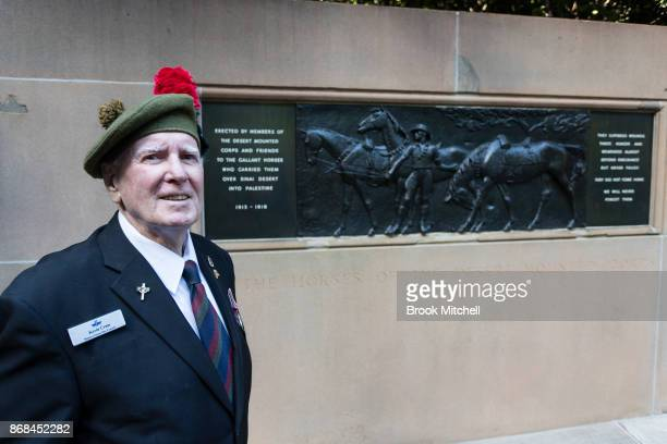 Veteran Kevin Kram is pictured during commemorations for the centenary of the Australian Light Horse Charge at the Battle of Beersheba on October 31...