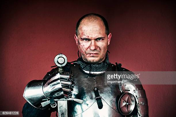 veteran knight - warrior person stock photos and pictures