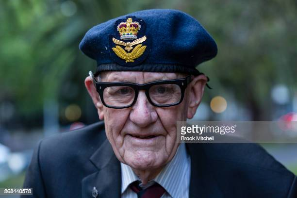 Veteran Norton Duckmanton is pictured during commemorations for the centenary of the Australian Light Horse Charge at the Battle of Beersheba on...
