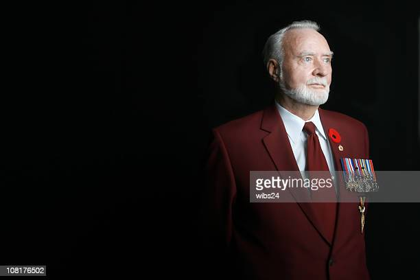 wwii veteran - traditionally canadian stock pictures, royalty-free photos & images