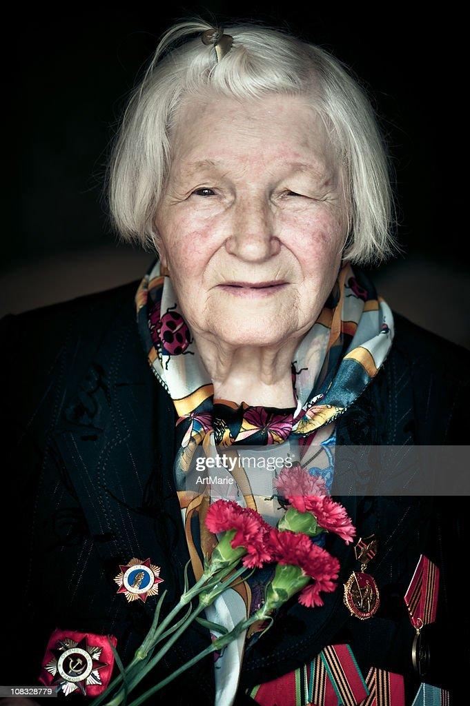 WWII Veteran : Stock Photo