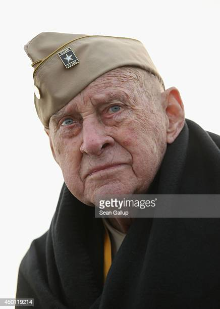 Veteran Raymond Sylvester who served in 86th Chemical Mortar Battalion of the US Army and landed at Utah Beach on DDay attends the US Ceremony on...