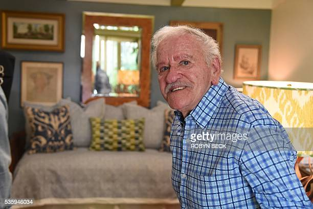 Veteran set dresser Stephen Koehler poses in his home at the Motion Picture Television Fund Country House a retirement community for people in the...