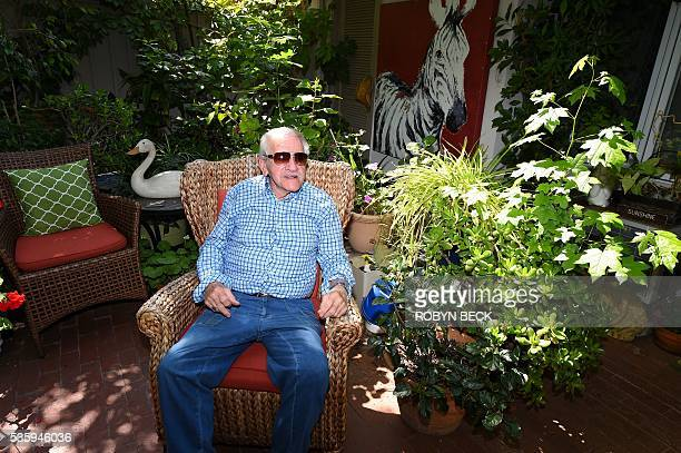 Veteran set dresser Stephen Koehler poses on the patio of his home at the Motion Picture Television Fund Country House a retirement community for...