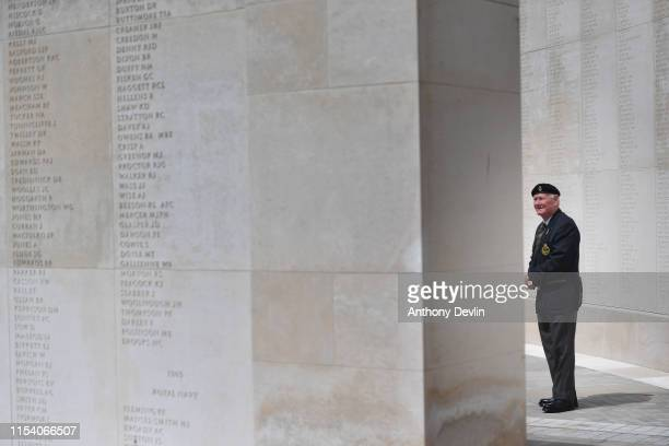 A veteran views the World War 2 Memorial following a visit from Prince William Duke of Cambridge at the National Memorial Arboretum in Alrewas...