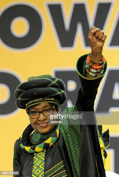 Veteran Winnie MadikizelaMandela during outgoing ANC president Jacob Zumas final speech at the partys 54th national elective conference at the Nasrec...
